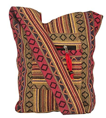 Tribe Azure Red Hobo Messenger Shoulder Bag Large Roomy School Sling Travel Camping Beach Cross body Photo #9
