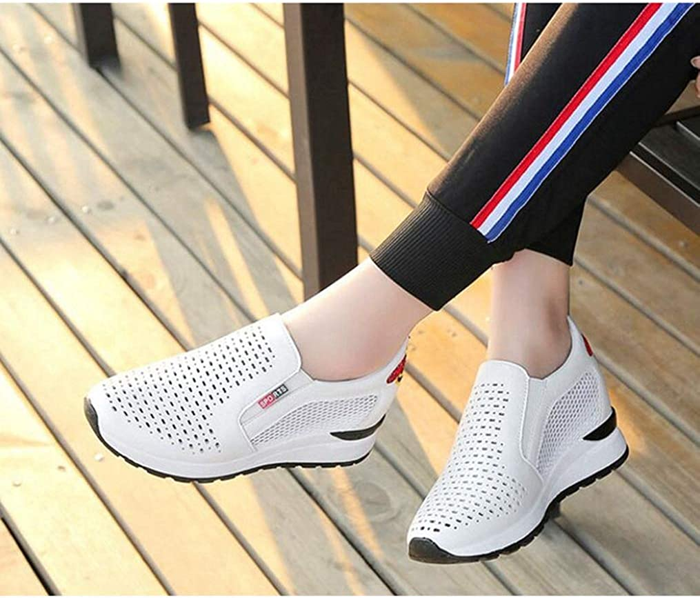 Yakoya Lady White Wedge Sneakers Casual Shoes Platform Wedges Shoes White Shoes Platform Sneakers Women