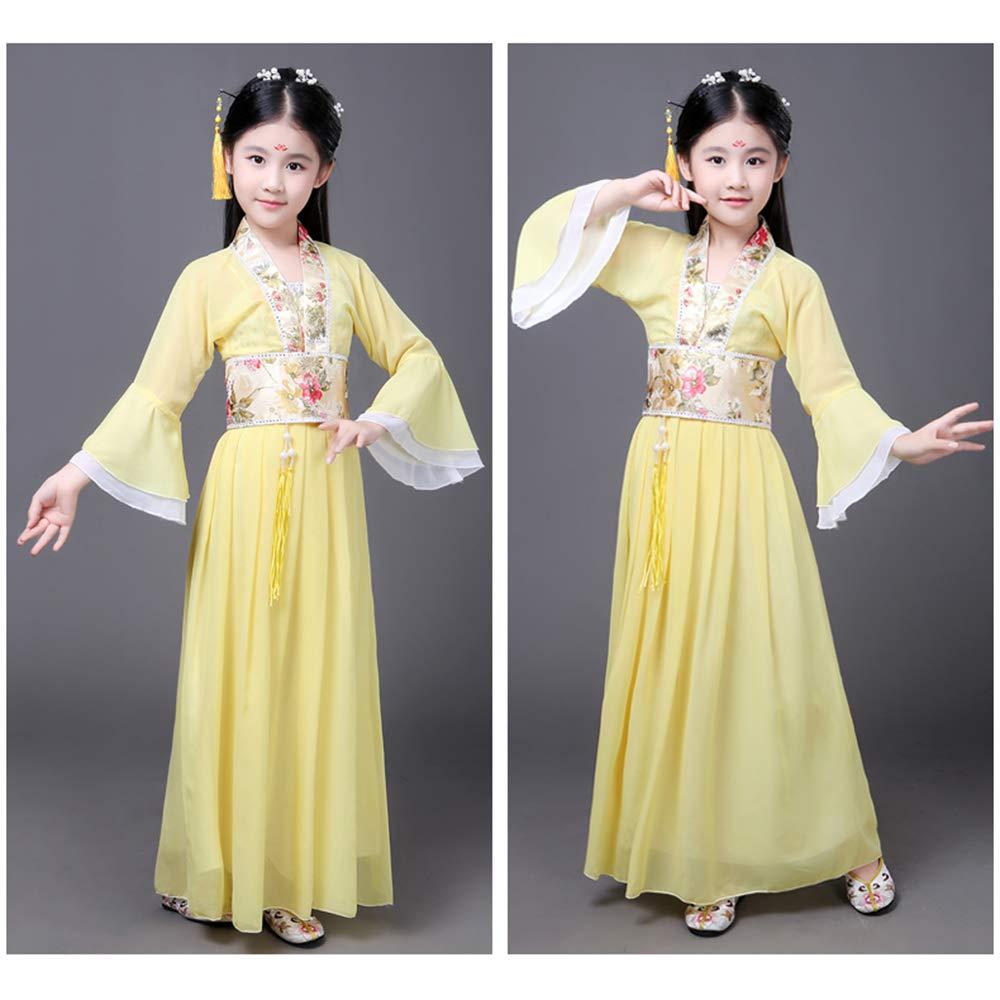 Bellissimo Hanfu Stile Cinese da Donna di Stile Etnico per Ragazze KINDOYO Hanfu Vestito per Bambini