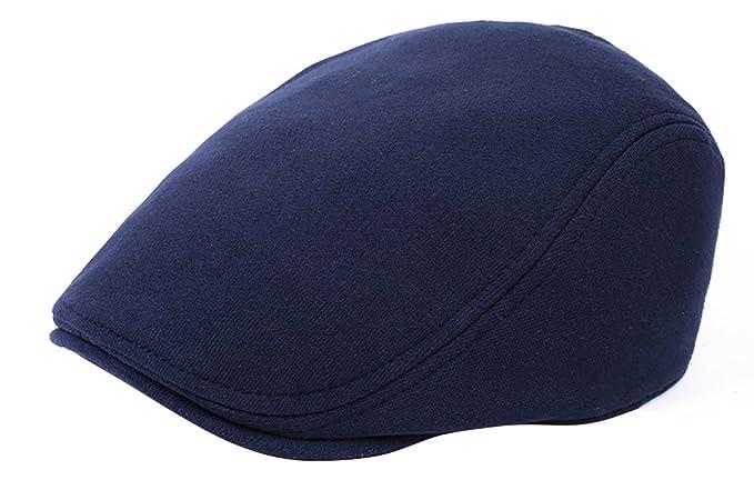 JYR Gorra de punto con boina cálida de moda hombre Gorras de visera con gorras de