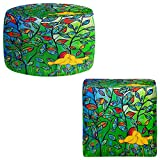Foot Stools Poufs Chairs Round or Square from DiaNoche Designs by Kim Ellery - Love Birds