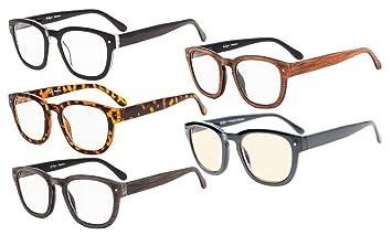 verschiedenes Design elegante Schuhe ästhetisches Aussehen Eyekepper 5-Pack Lesebrille Professor Vintage Stil Federscharniere Arms  inklusive Computer-Brille +2.5