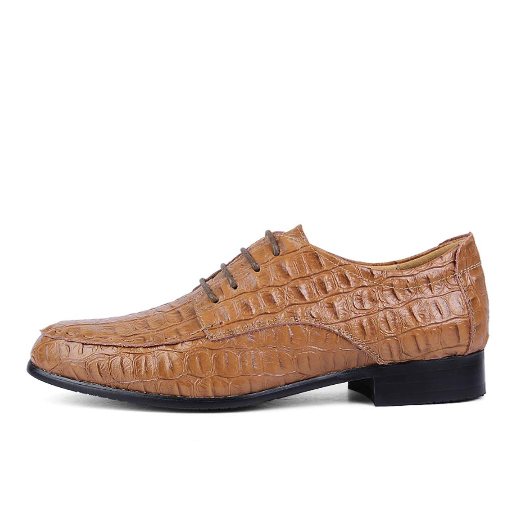 LXJL Cowhide Herren Business Casual Casual Casual Schuhe Spitzen Big Code Krokodil Lederschuhe 36-50,a,50  61ce9c