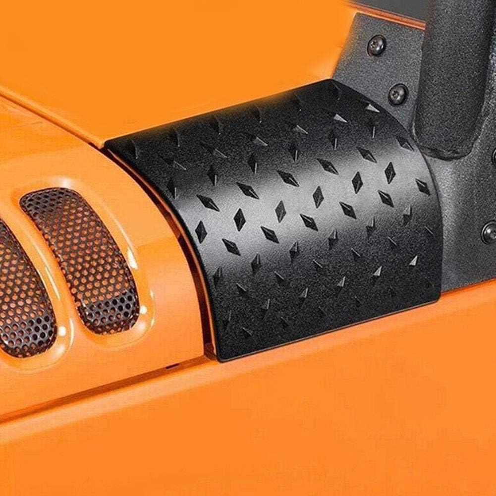 2Pcs Pointer Design Capot De Capot De Protection Darmure De Capot pour Jeep Wrangler 2007-2016 turkeybaby Capot Darmure De Capot