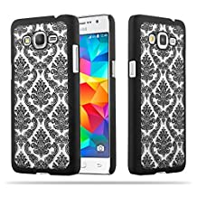 Cadorabo – Mandala Hard Cover Slim Case for Samsung Galaxy GRAND PRIME Paisley Henna - Etui Skin Protection Bumper in BLACK-TRANSPARENT