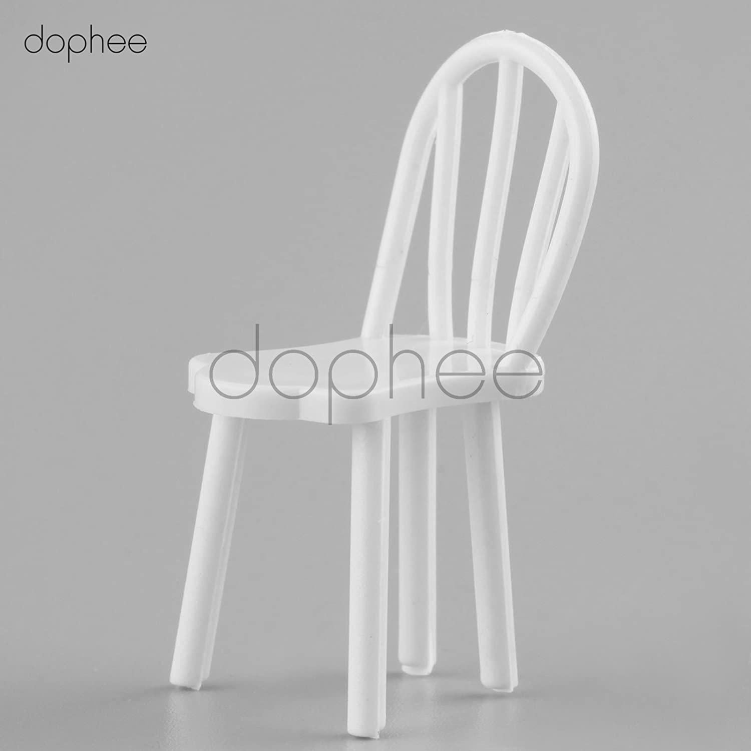 10Pcs White Plastic Chair Model Gift 1:25 Scale For Your Children Or Home Decor