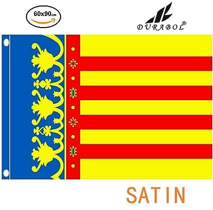 DURABOL Bandera de Valencia Comunidades autónomas de España 60*90 cm SATIN 2 anillas metálicas