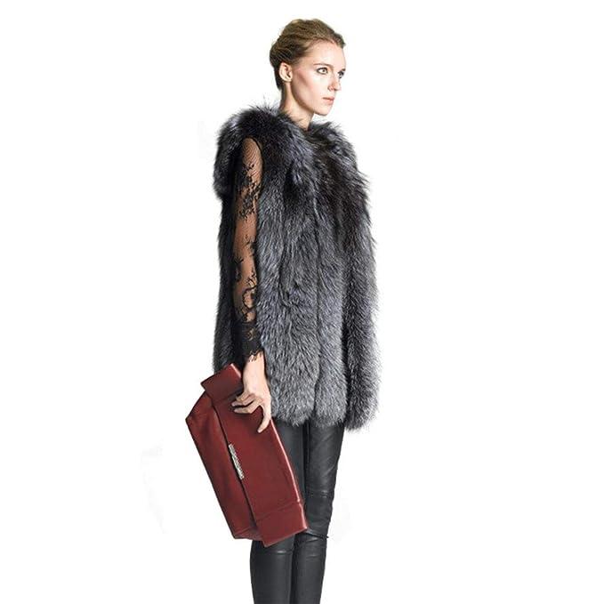 Women Fur Vest Jacket Luxury Imitation Fox Warm Jacket at Amazon Womens Coats Shop