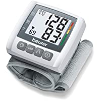 "Beurer BC30 Wrist Blood Pressure Monitor, Adjust. Cuff | Automatic & Digital, 2x 60 Reading Memory, LCD XL Numbers, Irreg. Heartbeat, Cuff Circ. 5.3"" - 7.7""