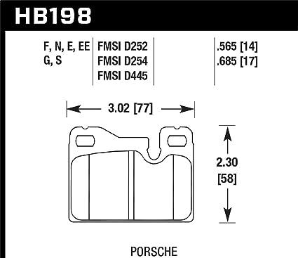 Hawk 77 - 88 Porsche 924/78 - 85 y 92 - 95 928/83 - 91 - 944 azul ...