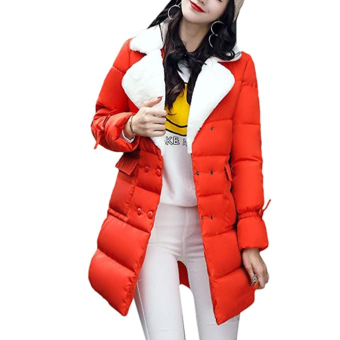 Zhuhaitf Comodos Abrigos de Mujer Retro Casual Down Winter Coats Ladies Long Down Jackets Cotton Dress Special Design Collar Outerwear: Amazon.es: Ropa y ...