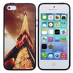 Eiffel Tower Retro Plastic Back Protectinve Case For iPhone 5 5S