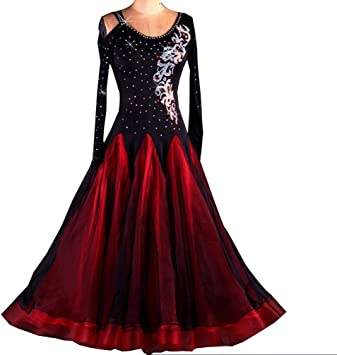 robe flamenco noir manche longue