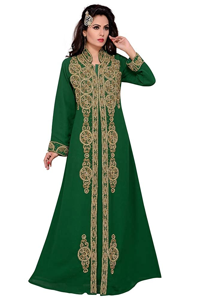 Women's Muslim Abaya Islamic Long Arabic Caftan Clothing Jalabiya