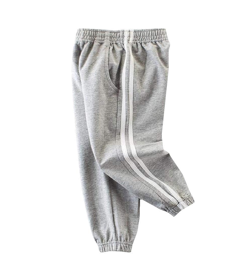 Pandapang Boy Elastic Waist Jogging Casual Athletic Pockets Track Pants