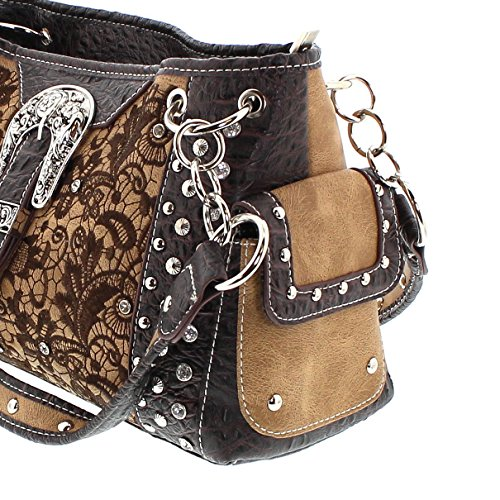 Fashion Boots, Borsa a tracolla donna multicolore marrone One size