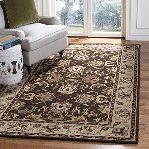 Safavieh Heritage Collection HG818A Handcrafted Traditional Oriental Brown and Beige Wool Area Rug 9 6 x 13 6