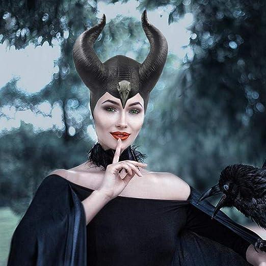 Beesuya Accesorio de Maléfica Disfraz Halloween Sombrero Maléfica ...