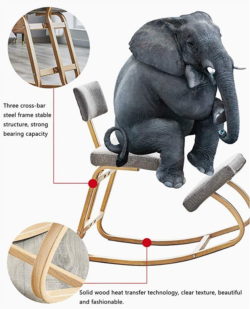 Ergonomisk knästol ergonomisk stol, pallknän, med ryggkudde deformeras inte, det hjälper till att förhindra smärta justerbar lugg, lila Lila