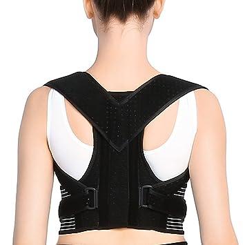 Doact Corrector de Postura, Corrector de Postura Espalda con Hombreras Blandas y Cinturones Elásticos Ajustables