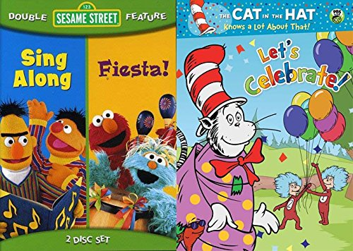 A Children's Celebration Collection - The Cat in the Hat Let's Celebrate & Sesame Street Sing Along Fiesta Double Feature 3-DVD Bundle ()