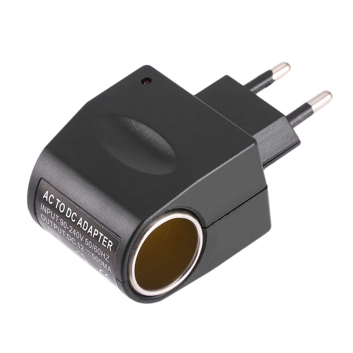 Universale in plastica + metallo 110 V-240 V 50-60 Hz AC a 12V DC EU Car Power Adapter Adapter Converter Accendisigari UniqueHeart