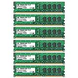 24GB KIT (6 x 4GB) For Gigabyte Gigabyte GA GA-EX58-DS4 (Rev 1.0) GA-EX58-EXTREME (Rev 1.0) GA-EX58-UD4 (Rev 1.0) GA-EX58-UD4P (Rev 1.0) GA-EX58-UD5 (Rev 1.0) GA-X58A-GD45 GA-X58A-OC GA-X58A-UD3R GA-X58A-UD5 GA-X58A-UD7 GA-X58A-UD9 GA-X58-USB3. DIMM DDR3 NON-ECC PC3-8500 1066MHz RAM Memory. Genuine A-Tech Brand.