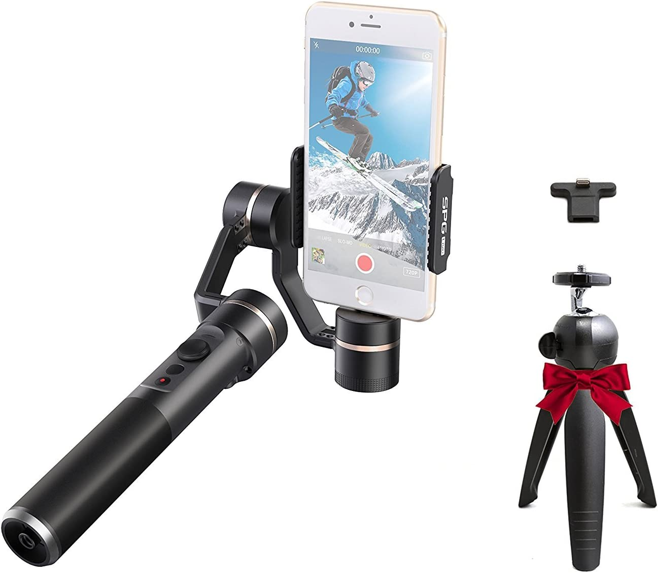 FeiyuTech SPG Live 3-Axis Gimbal, with Live-Streaming Portrait Mode, Adaptable for iPhone Smart Phones, 360 Degree Limitless Panning