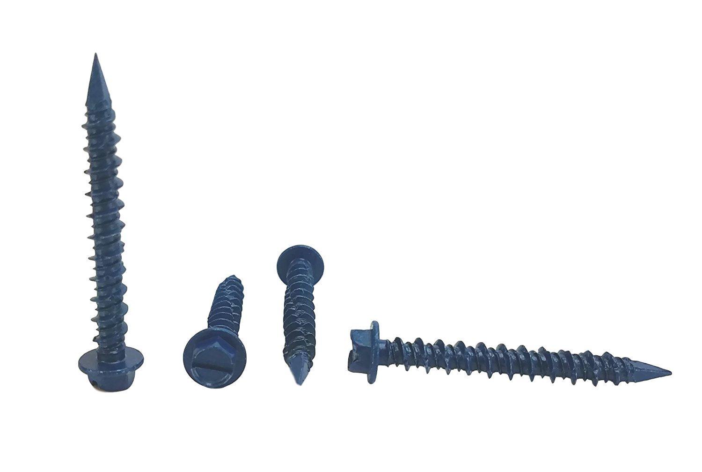 100 pieces With Drill Bit Miami-Dade Compliant 3//16 x 1-3//4 Chenango Supply 3//16 x 1-3//4 Hex Head Concrete Screw Anchor