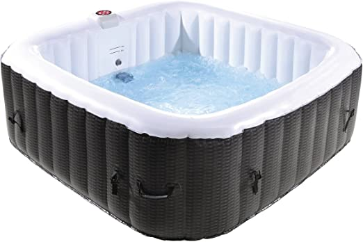 habitatetjardin SPA Hinchable Nice en PVC - 6 plazas - Marron ...