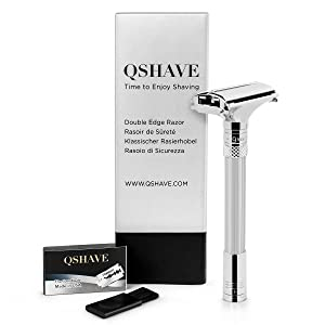 QSHAVE Parthenon Razor - adjustable with settings from 1-9 degree for superb shaving comfort Gift For Father's Day