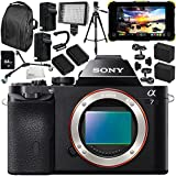 Sony Alpha a7 Mirrorless Digital Camera with Atomos Shogun Flame 7 4K HDMI/SDI Recording Monitor 15PC Accessory Bundle – Includes Deluxe Backpack + MORE