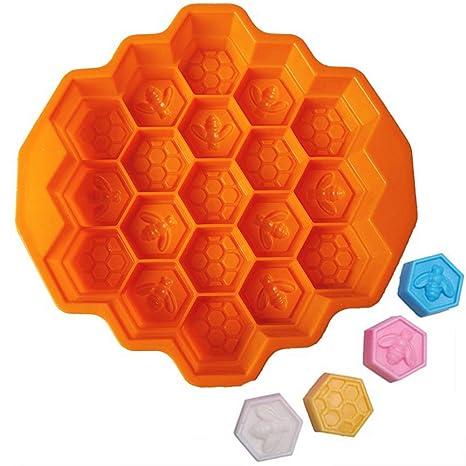 Tenlife Honeycombo Molde de silicona para repostería, moldes de chocolate, moldes de miel,
