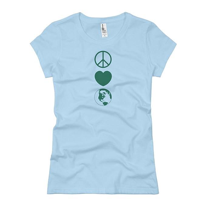 Amazon Earth Day Symbols Ladies Slim Fit Basic Promo Jersey