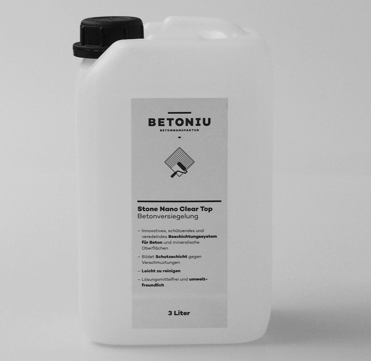 Betoniu Stone Nano-Clear Top – Betonversiegelung, Betonschutz (3 Liter)