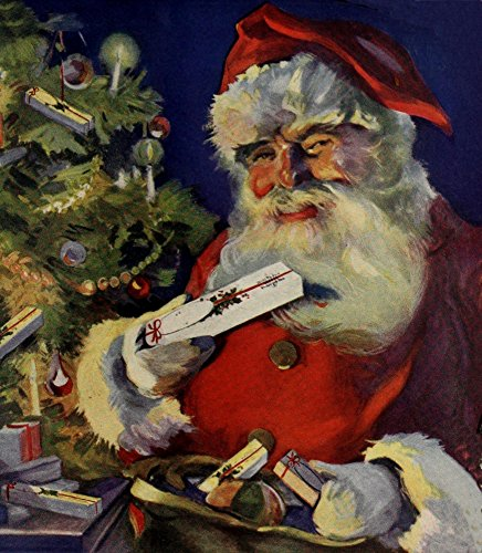(Canadian Home Journal 1922 Santa in ad for Watermans Fountain pens Poster Print by Unknown (24 x 36))