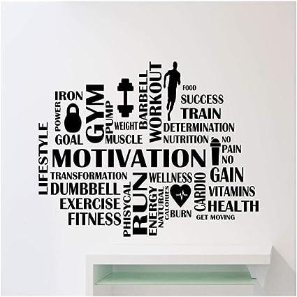Fitness Motivazionale Palestra Muro Citazione Adesivi Arte Decorazione w180