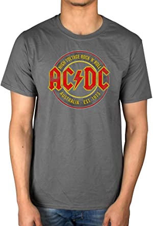 AC//DC High Voltage Vintage Mens T Shirt Unisex Tee Official Licensed Band Merch