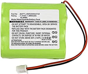 MPF Products BATT1, BATT1X, BATT2X, 228844, 6MR1600AAY4Z, 6MR2000AAY4Z Battery Replacement Compatible with 2GIG Go Control Panel Alarm System