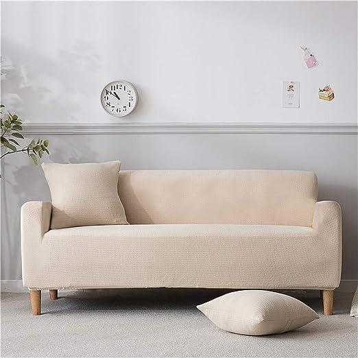 XJNJN Funda de sofá de Tela elástica e Impermeable para sofá ...