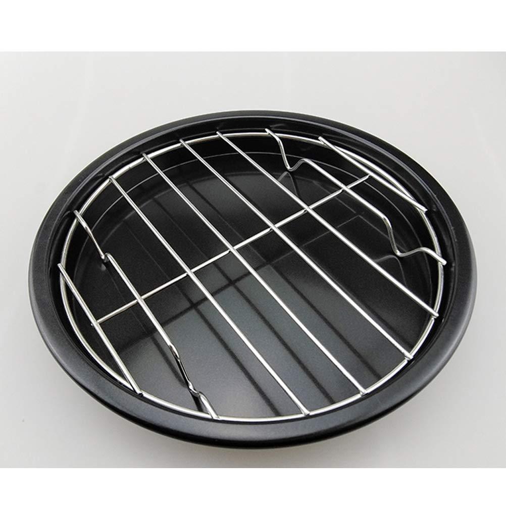 BESTONZON Rejilla de Horno de Acero Inoxidable para Barbacoa Enfriamiento Asar Pizza 20 cm