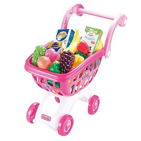 Gusspower Carro de la Compra para niños con Juguetes Preciosos para niños y niñas Que pretienden
