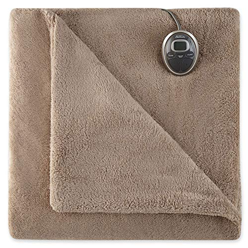 Sunbeam Loftec Heated Blanket, Full, Mushroom