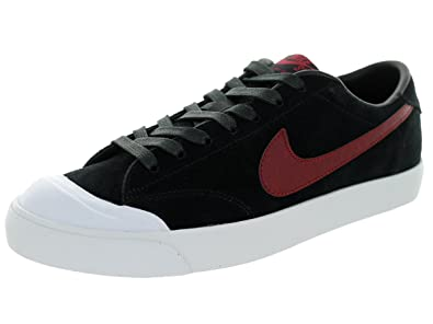 new arrival utterly stylish super quality Nike Mens Zoom All Court CK Black/Team Red-White Leather