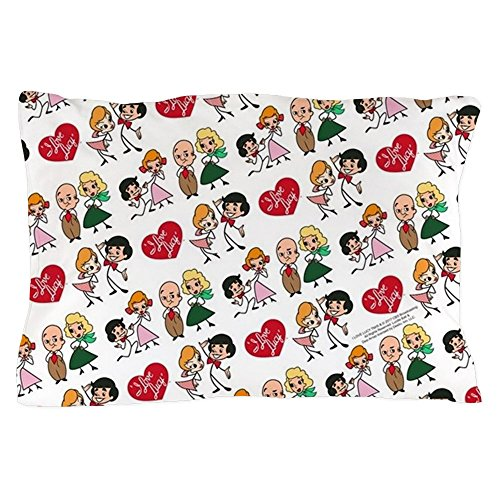 CafePress I Love Lucy Character Stick Figures Standard Size Pillow Case, 20