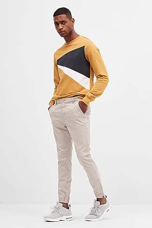 Blue Age Slim Fit Trousers for Men 36 - Beige