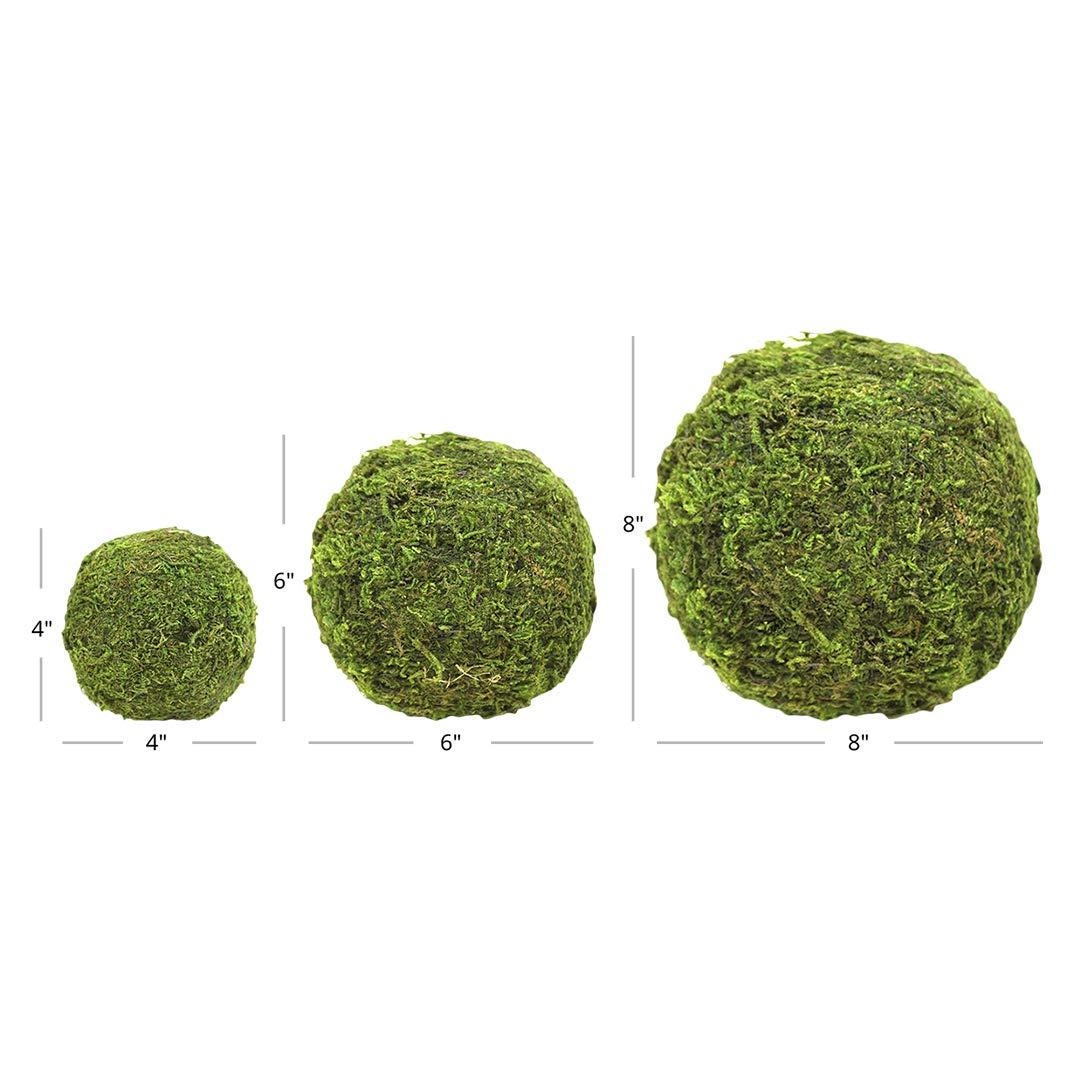 Koyal Wholesale 6-Pack Green Moss Balls, 8-Inch by Koyal Wholesale