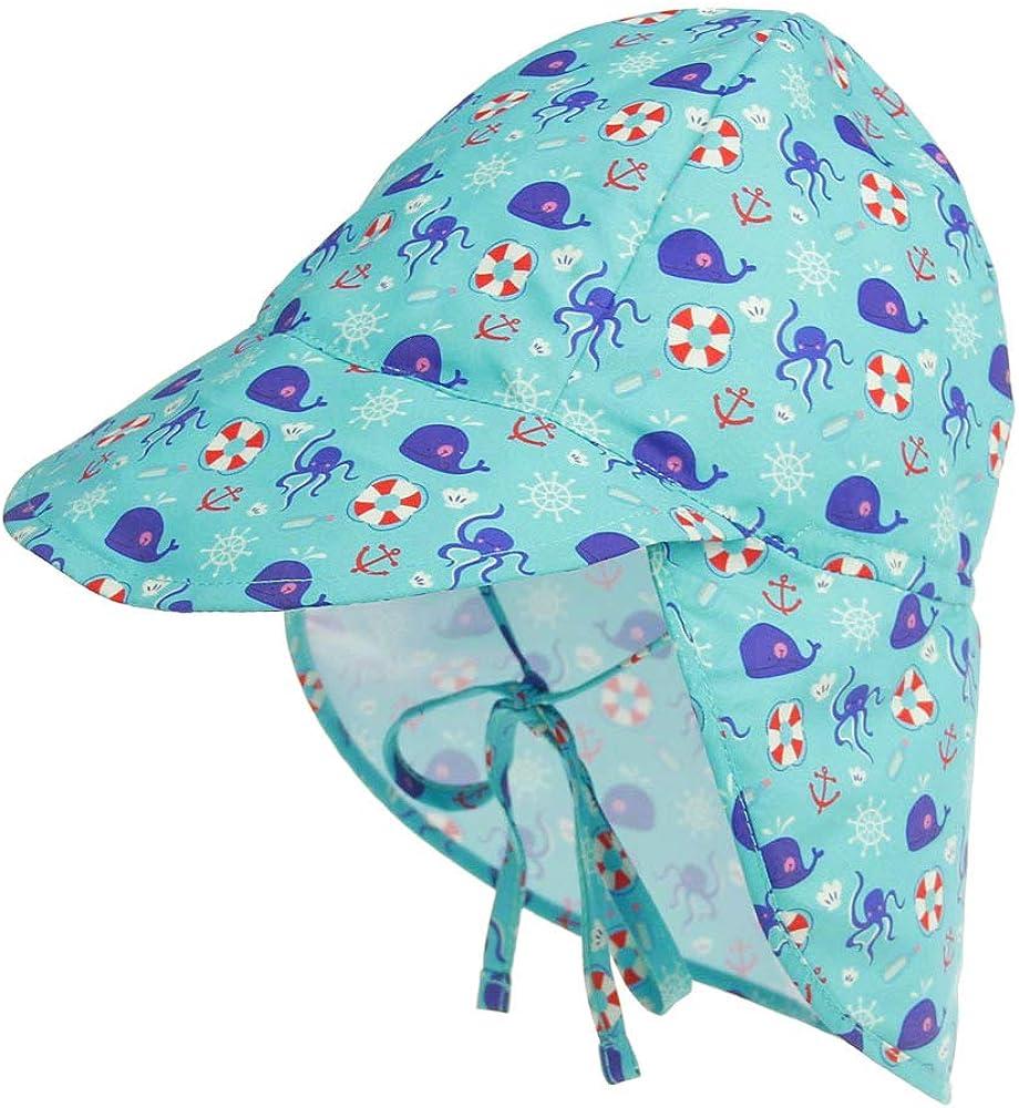 UPF per Neonato Berretto Estivo Regolabile per Bambini LACOFIA Cappello da Spiaggia Protezione Solare 50