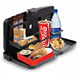 Zone Tech Multi-Functional Portable Foldable Car Seat Tray - Black Table/Car Vehicle Seat Portable Food/Meal/Snack Tray