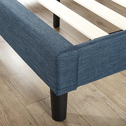 Zinus Omkaram Upholstered Navy Button Platform Bed